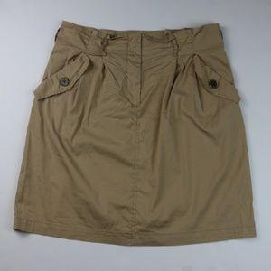 Zara Basics Skirt with Pockets Beige Size Large